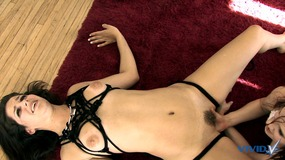 Stunning dark haired lesbian whores fuck each other with a nice sex toy