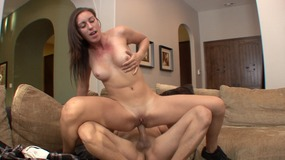 Transvestite Fresno Young Chick Gets Her Pussy Licked And Fucked By Stud On Couch,