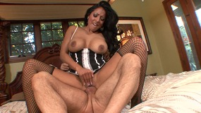 Horny MILF sucks large cock before fuck action