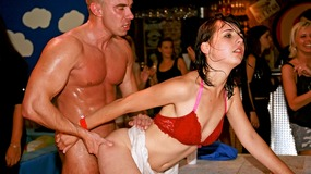 Hardcore fuckfest with some eager sluts and horny hunks fucking at a party
