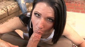 Dirty babe can't get enough dicks in her pussy and mouth