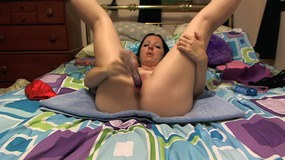She moans when her juicy cunt is penetrated deep