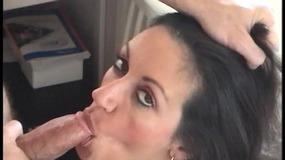 Kinky dude with mask put his penis between slut's big boobs