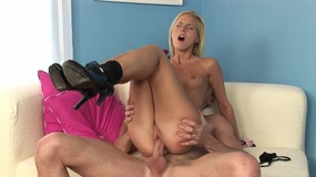 Blonde Girl With Skinny Body Loves Big Cock