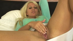 Dirty blonde makes her husband her sex slave