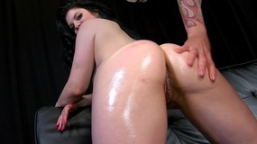 Cute Natural Babe Oiled Up And Fucked