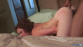 Black lover makes this white girl finish with toy and cock