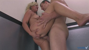 Female masturbation with real ejaculation