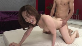 Fantastic smart japanese woman gets her feet licked and cunt fucked with couple of dicks