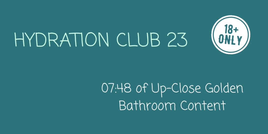 Hydration Club 23 - clip cover-front
