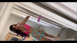 Popsicle Dildo Fucking outdoor on my balcony  - clip cover-back