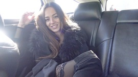 Dominikac in the car big pussy lips queen  - clip cover-front