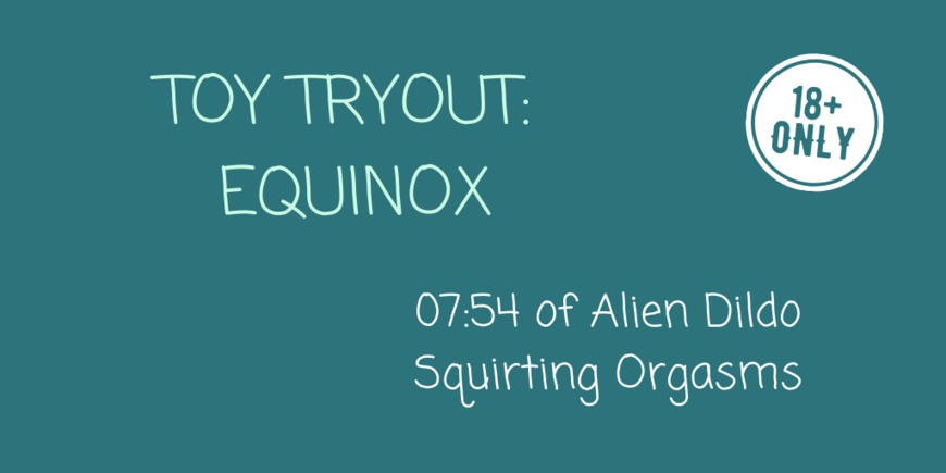 Toy Tryout: Equinox - clip cover-front